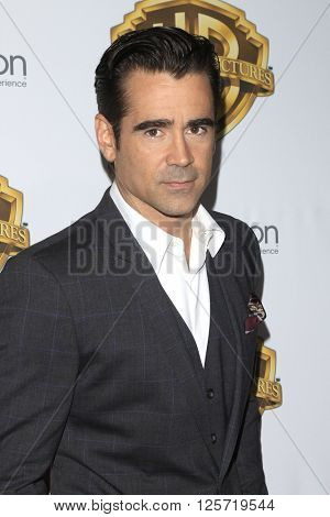 LAS VEGAS - APR 12: Colin Farrell at the Warner Bros. Pictures Presentation during CinemaCon at Caesars Palace on April 12, 2016 in Las Vegas, Nevada
