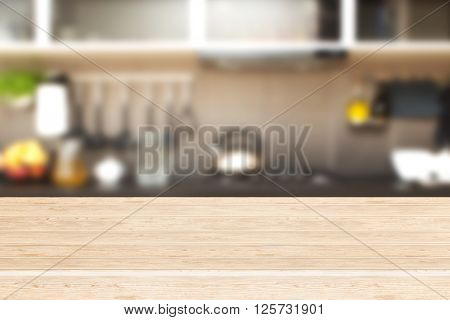 Interior of kitchen and desk space -  - stock image.