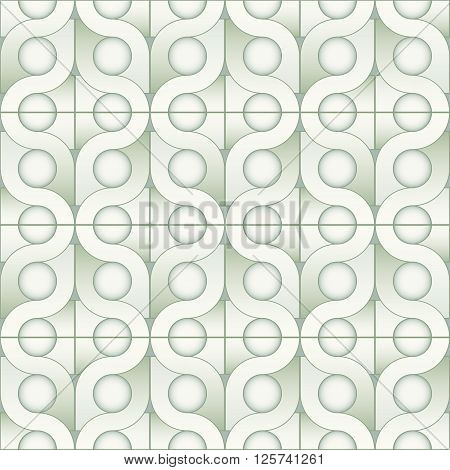 Modern Stylish Ornamental Interior Texture With Structure Of Repeating Geometric Shapes - Vector Sea