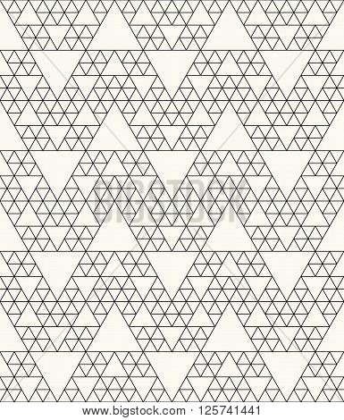 Modern Stylish Outlined Abstract Textile Background With Irregular Structure Of Repeating Triangles