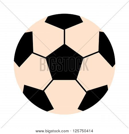 Soccer ball isolated on white illustration. Soccer ball football sport equipment. Soccer ball design. Soccer ball . Soccer ball colored design. Soccer leather ball. Football soccer ball isolated