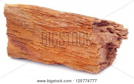 Close up of Sedimentary rocks over white background