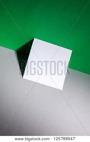 blank paper near wall
