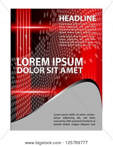 Brochure flyer background. Flyer design template abstract