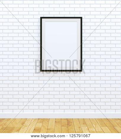 Big size of black frame on white brick wall
