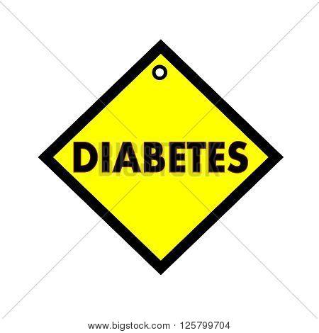 diabetes black wording on quadrate yellow background