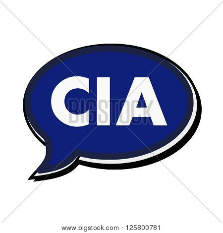 an images of Cia wording on blue Speech bubbles