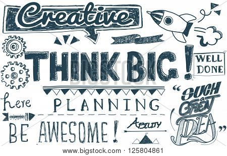 Think Big Positive Believe Attitude Concept