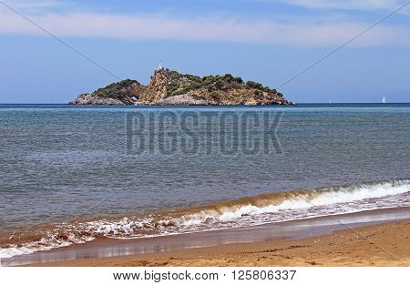 Island (Delikada Island) near Iztuzu beach, Turkey