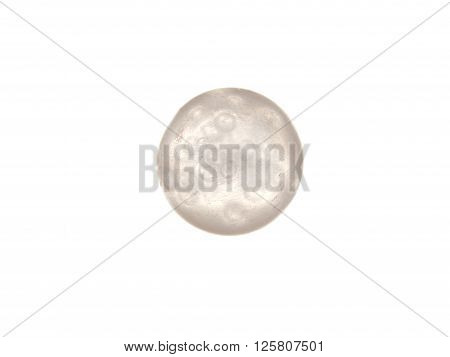 Glass ball with air bubbles isolated on a white background.