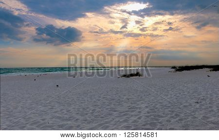 Beach and ocean scenic for vacations and summer at sanibal island
