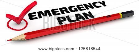Emergency plan. The mark
