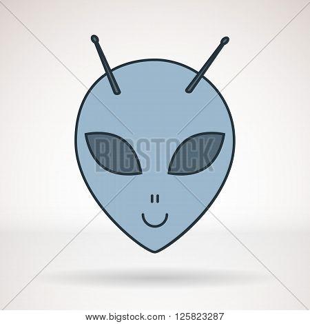 Vector icon for business presentations interface logo. Modern flat design. Alien.