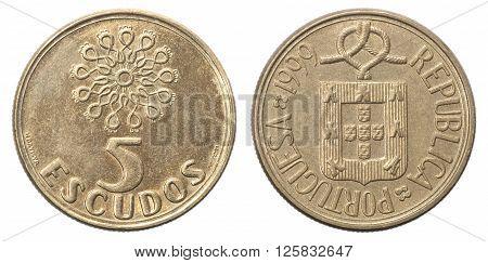 Five Portuguese Escudo Coin