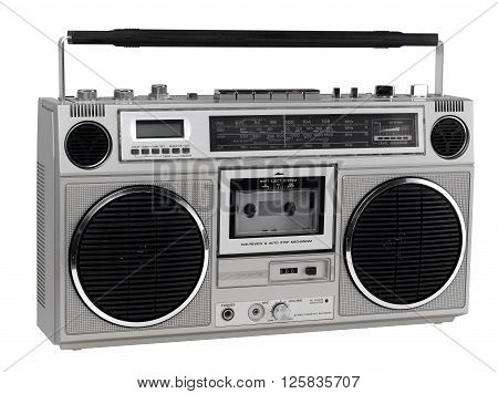 GhettoBlaster looking right isolated on a white background