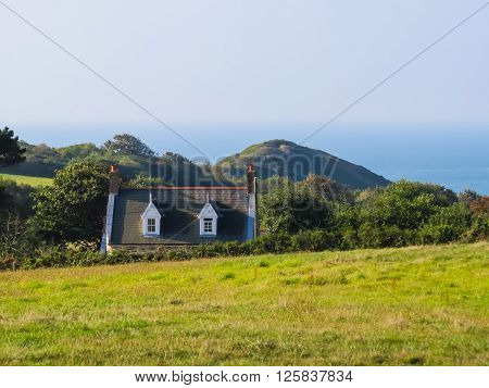 Landscape of the Sark Island Channel Islands