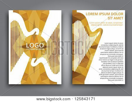 Template Music Polygonal Brochure