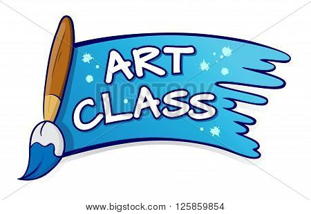 Vector stock of art class sign and symbol with paint brush