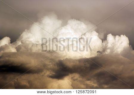 storm sky with clouds, apocalypse