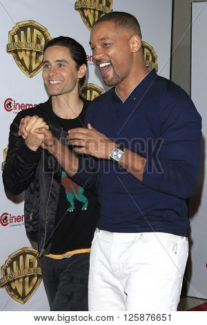 LAS VEGAS - APR 12: Jared Leto, Will Smith at the Warner Bros. Pictures Presentation during CinemaCon at Caesars Palace on April 12, 2016 in Las Vegas, Nevada