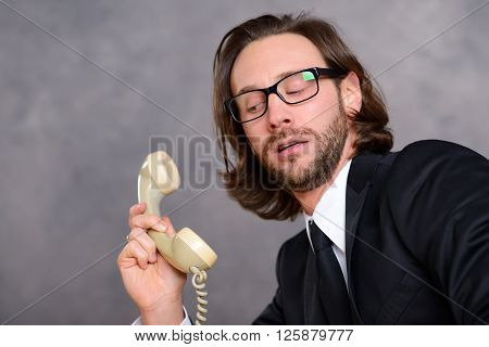 Businessman Has A Awkward  Phone Call