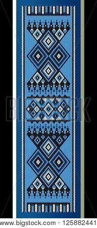 Blue and Black Theme Sadu Weaving Belt