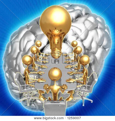 3D Big Idea Meeting Concept