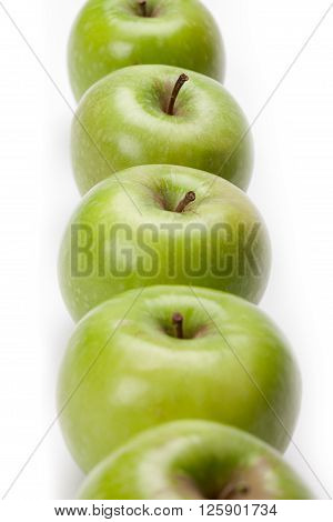 healthy line up isolated on a white background
