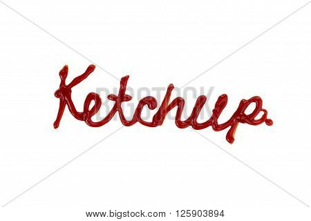Image of ketchup isolated on white background