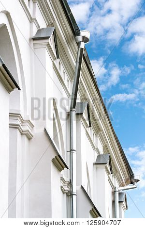 New Gutter System On House Facade