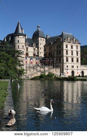 VIZILLE FRANCE August 11 2013 : The Chateau de Vizille houses the Musée de la Révolution française de Vizille.