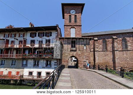 St-jean Pied De Port, France, June 26, 2015 : The Town Is A Starting Point For The Camino Frances, T