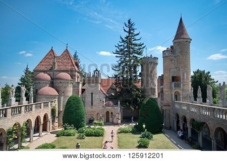 SZEKESFEHERVAR HUNGARY - JULY 04 2015: Bory Castle in Hungary is designed by Jeno Bory. The castle was built by Bory himself with his own hands.