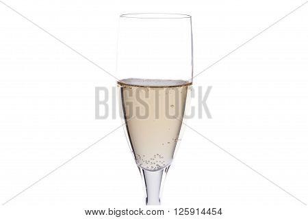image of white wine isolated on white background