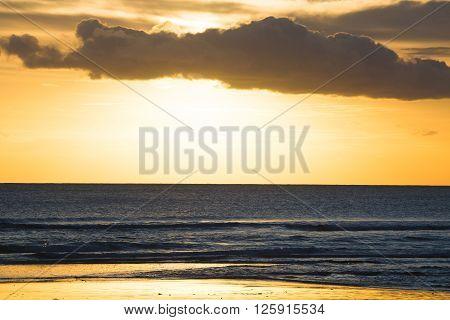 The Kuta Beach sunset in Bali, Indonesia