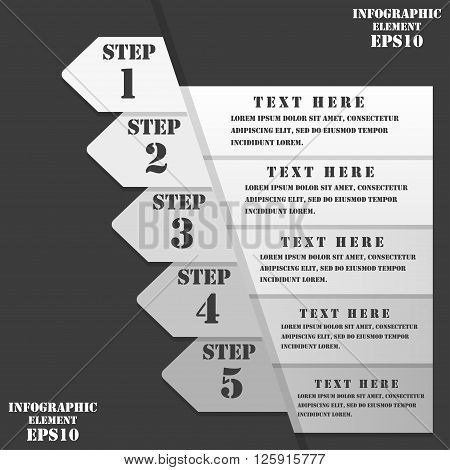 Step numbers options chek list business template