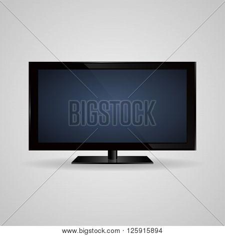 TV screen lcd plasma realistic vector illustration