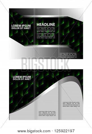 Brochure design vector. Abstract vector illustration template