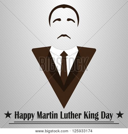 Martin Luther King Day. Hairstyle mustache and suit