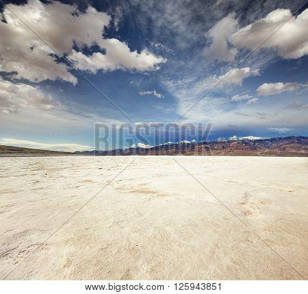 badwater basin landscape in Death Valley National Park