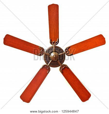 A vintage ceiling fans on white background