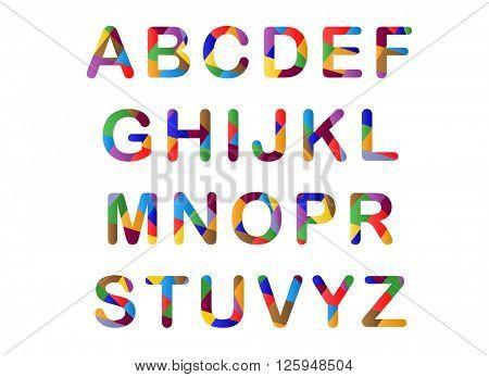 Cute candy-colored 3d alphabet