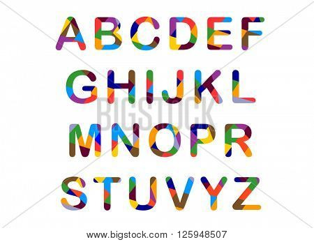 Cute candy-colored alphabet