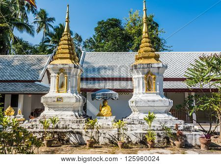 Architectural detail of Budha in Luang Prabang, Laos