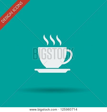 coffee cup icon. Flat design style eps 10