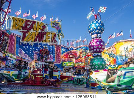 MUNICH, GERMANY - OCTOBER 02, 2015: Carousel