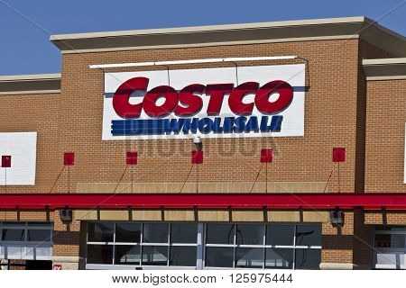 Indianapolis - Circa April 2016: Costco Wholesale Location. Costco Wholesale is a Multi-Billion Dollar Global Retailer II