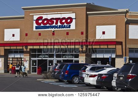 Indianapolis - Circa April 2016: Costco Wholesale Location. Costco Wholesale is a Multi-Billion Dollar Global Retailer I