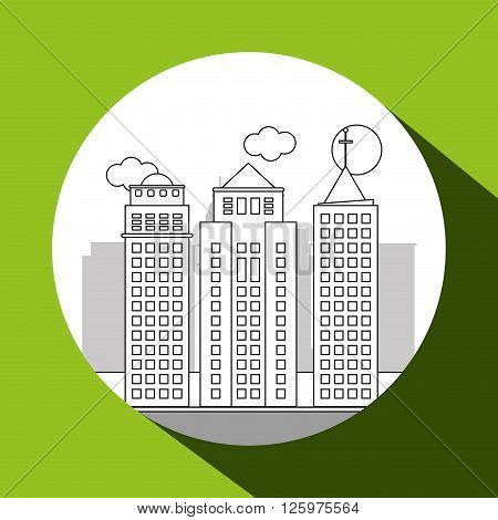 City concept with buidling  icon design, vector illustration 10 eps graphic.
