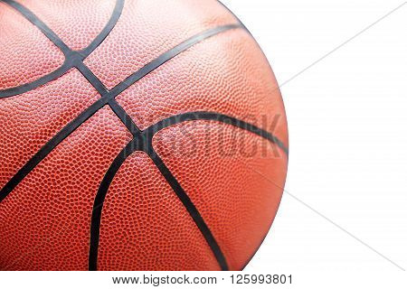 Closed up view of basketball outdoor for background, basketball concept, basketball idea, basketball background, basketball object, basketball close up, basketball equipment.